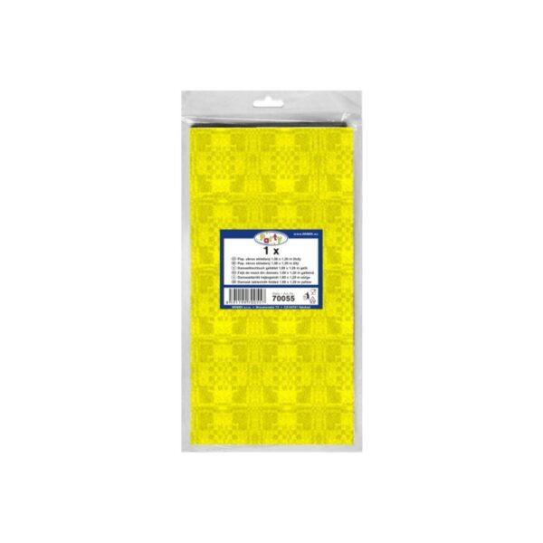 Pap. obrus skladaný 1,80 x 1,20 m žltý [1 ks]