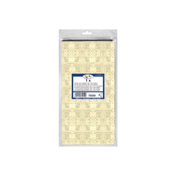 Pap. obrus skladaný 1,80 x 1,20 m béžový [1 ks]