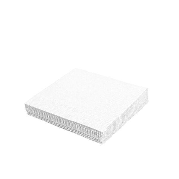 Obrúsky 1-vrstvé, 30 x 30 cm biele [100 ks]