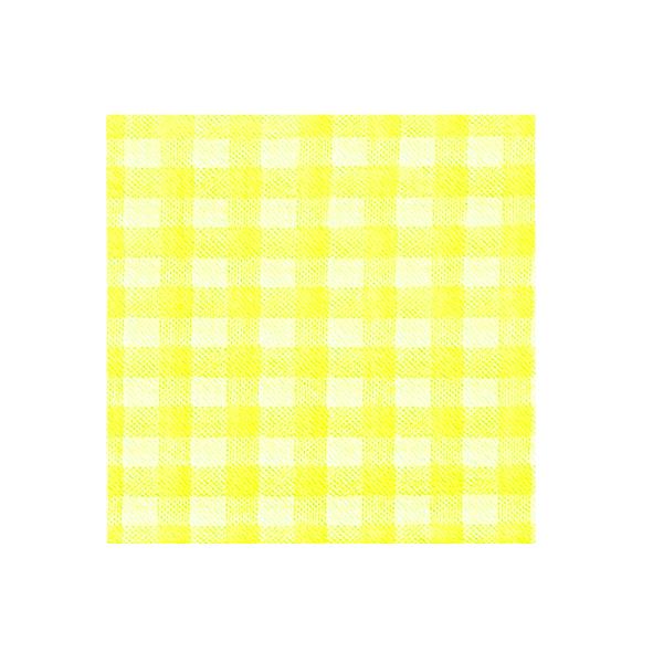 Obrúsky 1-vrstvé, 33 x 33 cm KARO žlté [100 ks]