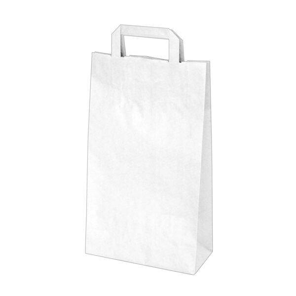Papierové tašky 22+10 x 38 cm biele [50 ks]