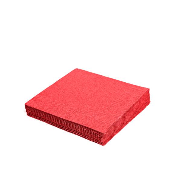 Obrúsky 3-vrstvé, 33 x 33 cm červené [20 ks]