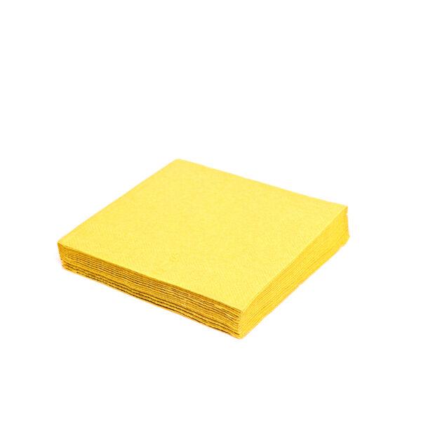 Obrúsky 3-vrstvé, 33 x 33 cm žlté [20 ks]