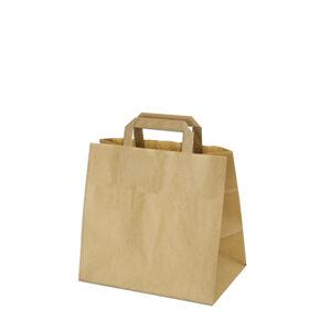 Papierové tašky 26+17 x 25 cm hnedé [50 ks]