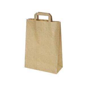 Papierové tašky 22+10 x 28 cm hnedé [50 ks]
