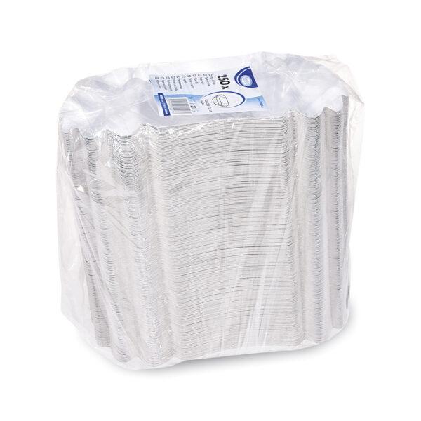 Papierové misky oválne 12,5 x 20,5 x 3,5 cm [250 ks]