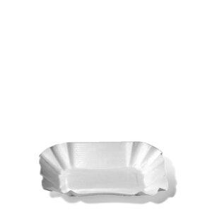 Papierové misky hranaté 9 x 14 x 3 cm [250 ks]