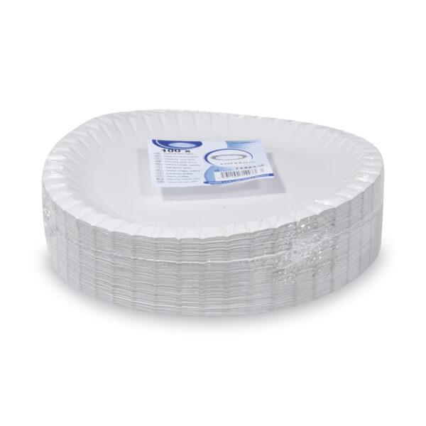 Papierové taniere plytké ø 23 cm [100 ks]