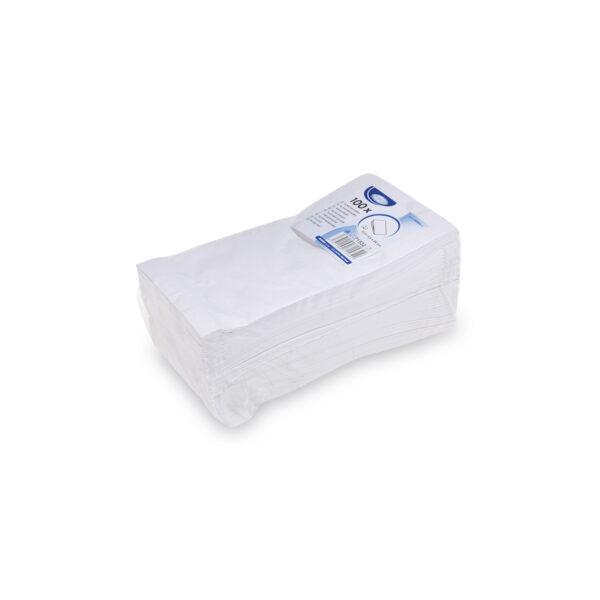 Pap. vrecká nepremastiteľné biele 10,5+5,5 x 24 cm [100 ks]