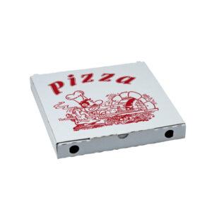 Krabica na pizzu z vlnitej lepenky 24 x 24 x 3 cm [100 ks]
