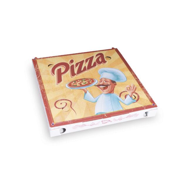 Krabica na pizzu z vlnitej lepenky 29,5 x 29,5 x 3 cm [100 ks]