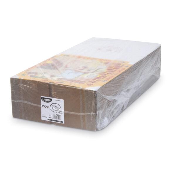 Krabica na pizzu z vlnitej lepenky 32 x 32 x 3 cm [100 ks]