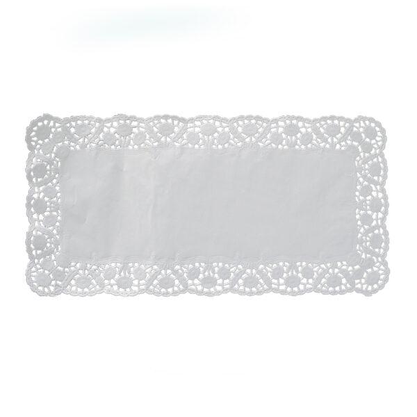Dekoračné krajky hranaté 30 x 40 cm [100 ks]