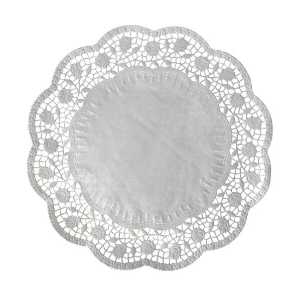 Dekoračné krajky okrúhle ø 38 cm [100 ks]