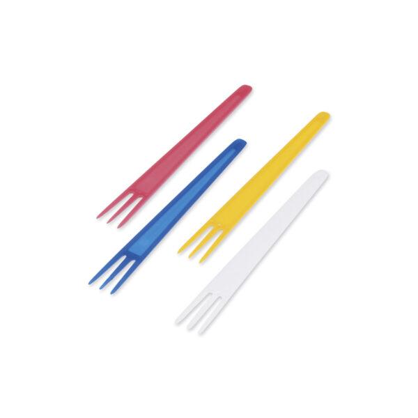 Vidlička na hranolky farebná mix 7,5 cm [2000 ks]