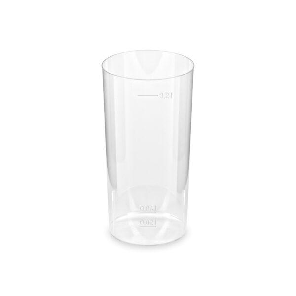 Pohár kryštál na Longdrink 2 cl / 0,2 l [10 ks]