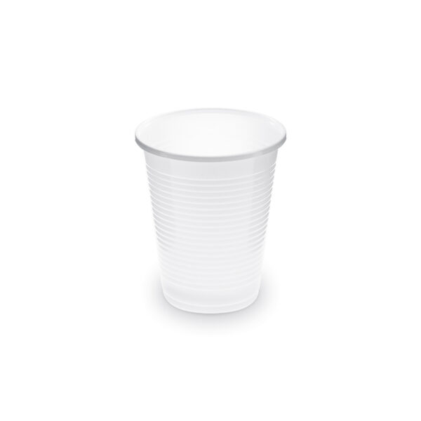 Pohár biely 0,18 l -PP- (ø 70 mm) [100 ks]