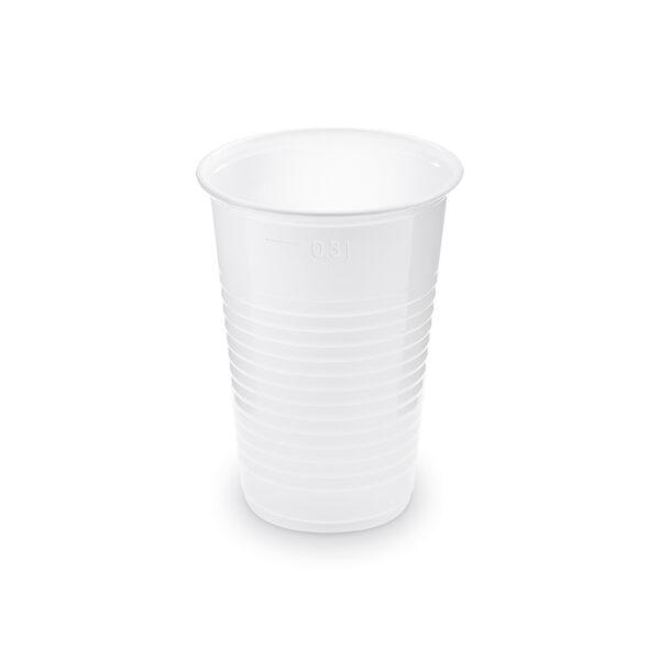 Pohár biely 0,3 l -PP- (ø 78 mm) [100 ks]