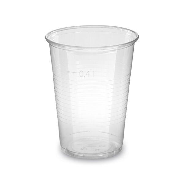 Pohár priehľadný 0,4 l -PP- (ø 95 mm) [50 ks]