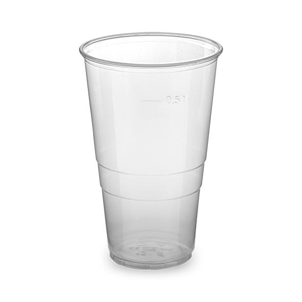 Pohár priehľadný 0,5 l -PP- (ø 95 mm) [50 ks]