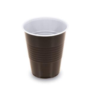 Automatový pohárik hnedo-biely 0,15 l -PS- (ø 70mm)[100 ks]
