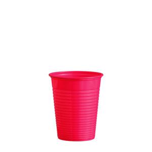 Pohár červený 0,18 l -PS- (ø 70 mm) [50 ks]