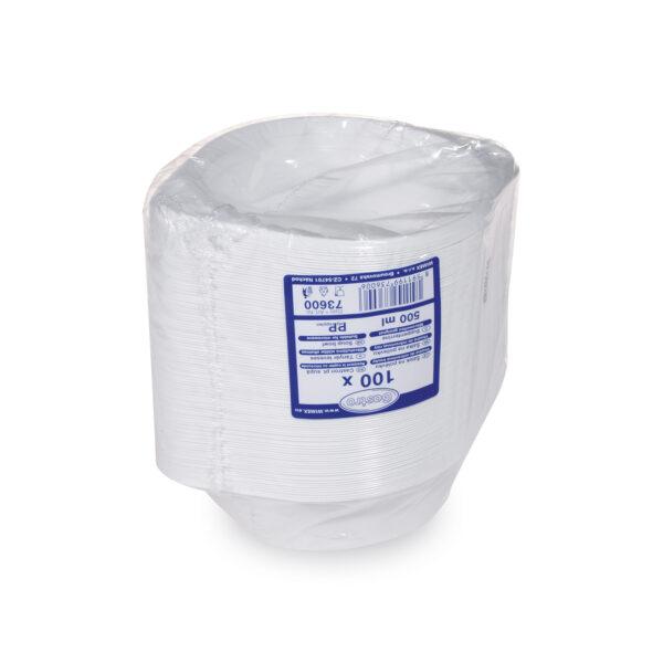 Šálka na polievku biela (PP) 500 ml [100 ks]