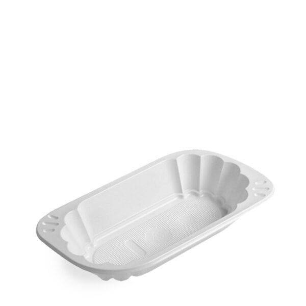 Miska oválna biela (PP) 250 ml [250 ks]