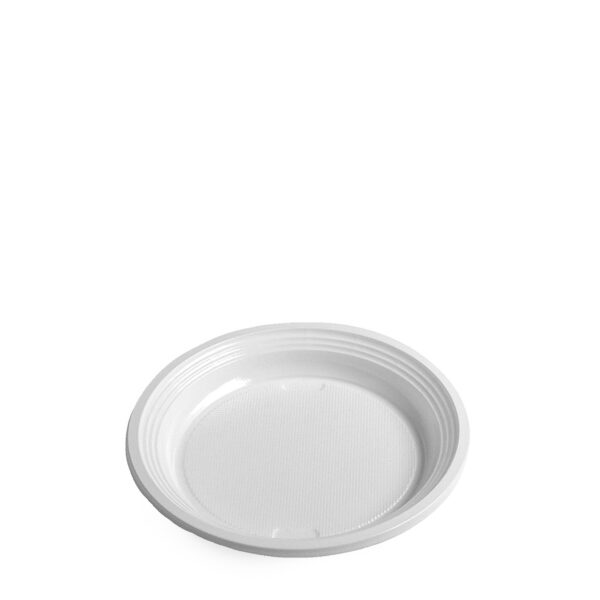 Tanier plytký, biely (PP) ø 17 cm [100 ks]