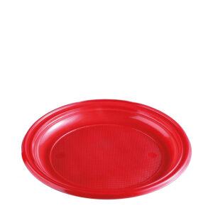 Tanier červený (PS) ø 22 cm [30 ks]