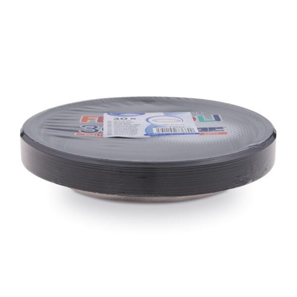 Tanier čierny (PS) ø 22 cm [30 ks]
