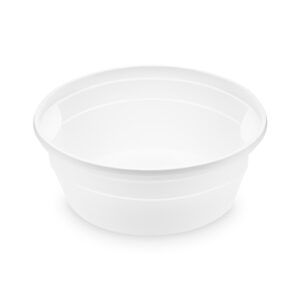 Polievková miska biela (PP) 350 ml, ø 127 mm [50 ks]