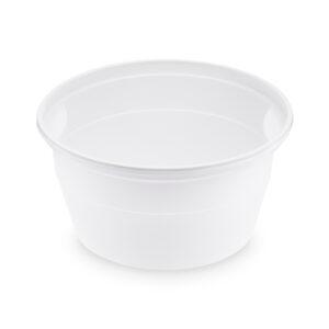 Polievková miska biela (PP) 500 ml, ø 127 mm [50 ks]