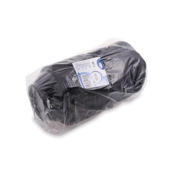 Šalátová miska čierna 600 ml (PET) [50 ks]