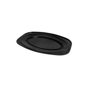Podnos oválny čierny 35 x 24,7 cm (EPS) [10 ks]