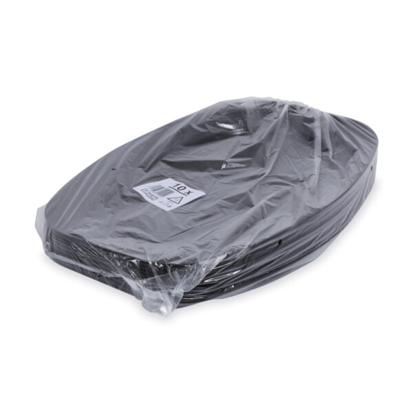 Podnos oválny čierny 55 x 36 cm (EPS) [10 ks]