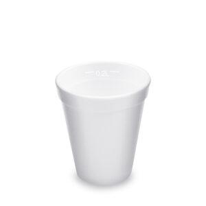 Termo-pohár biely z penového PS 0,2 l (ø 80 mm) [25 ks]