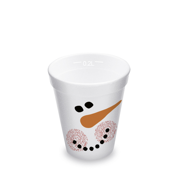 "Termo-pohár ""Snehuliak"" 0,2 l (ø 80 mm) [25 ks]"