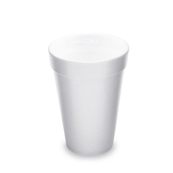 Termo-pohár biely z penového PS 0,25 l (ø 80 mm) [20 ks]