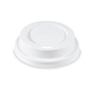 Viečko vypuklé biele pre papierové kelímky ø 73 mm [100 ks]