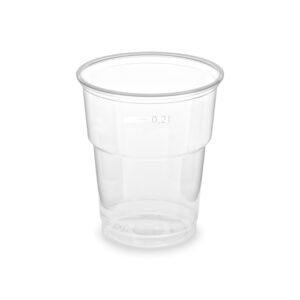 Pohár priehľadný 0,2 l (PP) -extra pevný- (ø 78 mm) [50 ks]