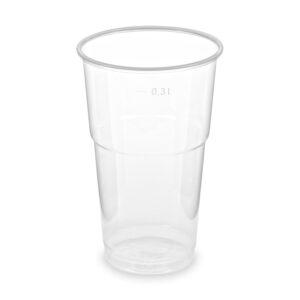 Pohár priehľadný 0,3 l -PP- (ø 78 mm) [50 ks]