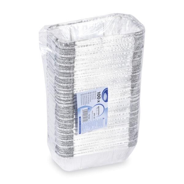 Miska hranatá ALU (690 ml) 20,1 x 10,9 x 4,9 cm [100 ks]
