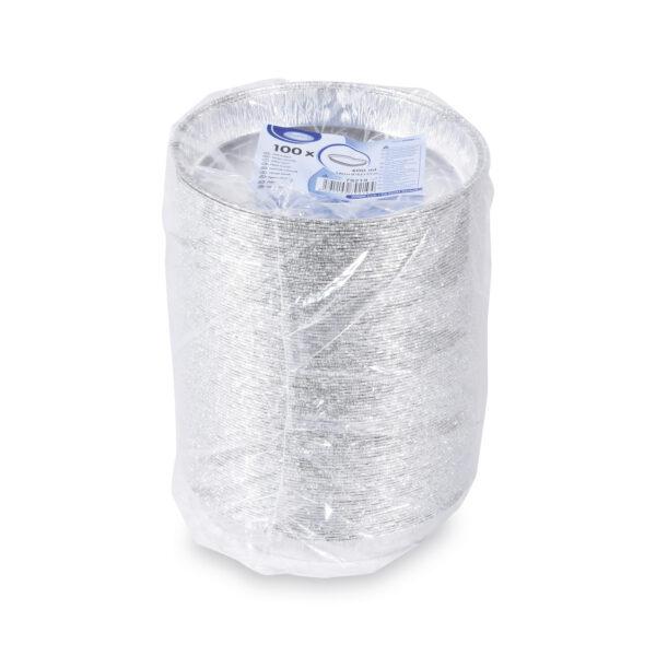 Tanier okrúhly ALU (600 ml) ø 19,5 x 2,5 cm [100 ks]