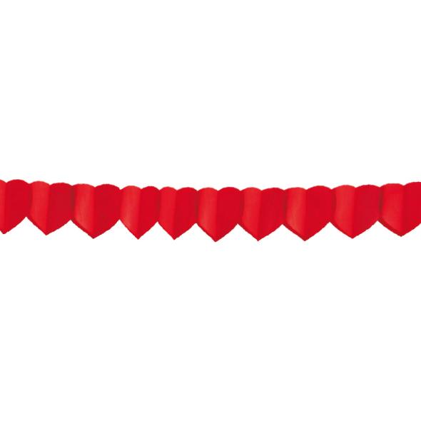 Papierová girlanda SRDCIA 4 m (ø 18 cm) [1 ks]