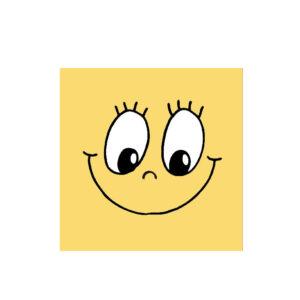 Obrúsky 3-vrstvé, 33 x 33 cm SMILING FACE [20 ks]