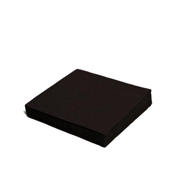 Obrúsky 2-vrstvé, 24 x 24 cm čierne [250 ks]