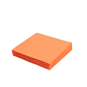 Obrúsky 3-vrstvé, 33 x 33 cm oranžové [250 ks]