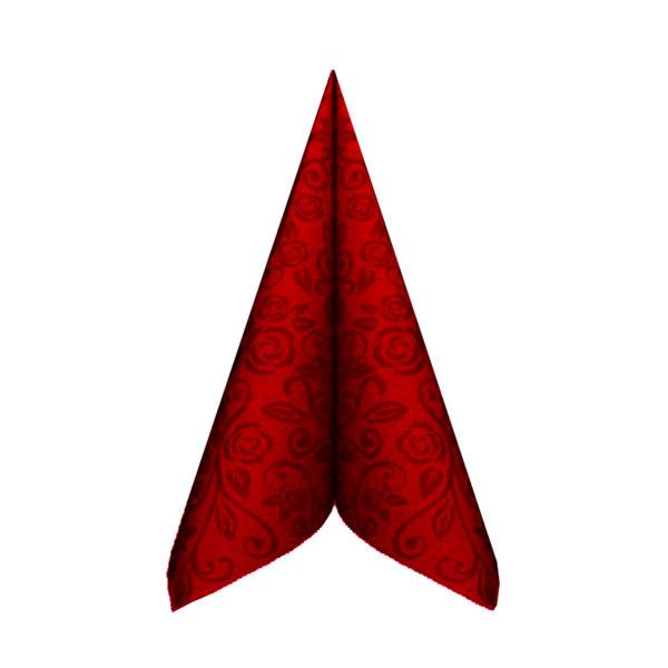 "Obrúsky PREMIUM 40x40cm ""dekor R"" červené [50 ks]"