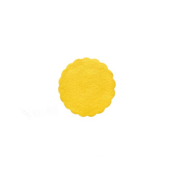 Rozetky PREMIUM ø 9 cm žlté [40 ks]